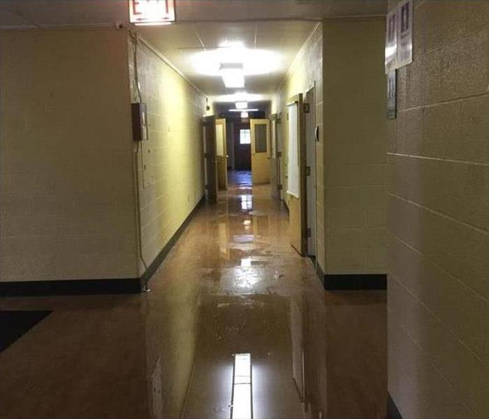 hallway filled with water